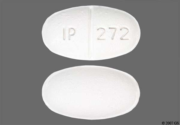 White Oval Ip 272 - Sulfamethoxazole/Trimethoprim 800mg-160mg Tablet