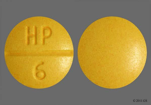 Yellow Round Hp 6 - Sulindac 200mg Tablet