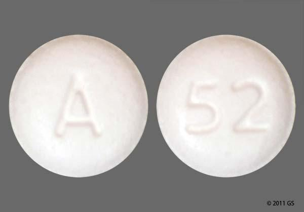 White Round 52 And A - Benazepril Hydrochloride 10mg Tablet