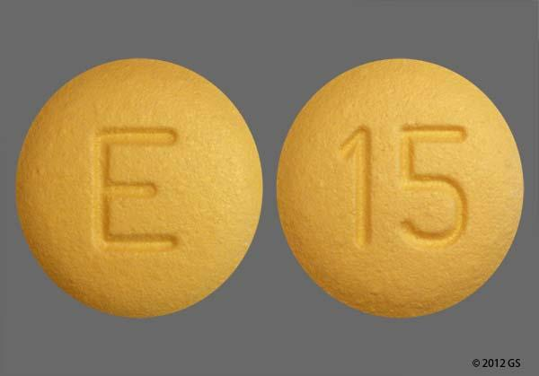 Yellow Round E And 15 - Benazepril Hydrochloride 10mg Tablet