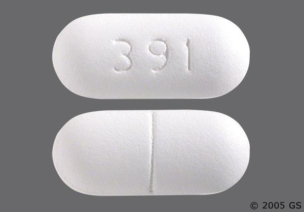 White Oblong 391 - Oxaprozin 600mg Tablet