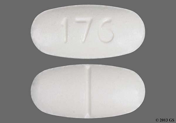 White Oval 176 - Hydrocodone Bitartrate/Acetaminophen 10mg-325mg Tablet