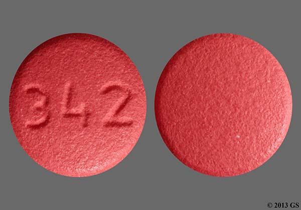 Red Round 342 - Benazepril Hydrochloride 10mg Tablet