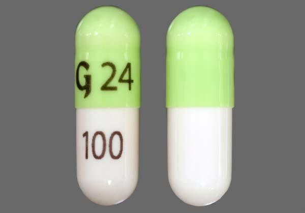 Green And White G 24 100 - Zonisamide 100mg Capsule