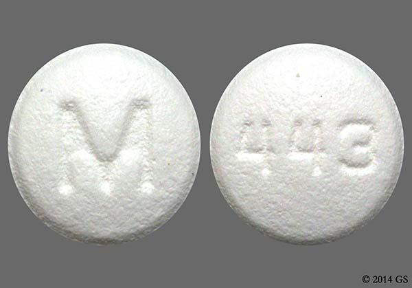 White Round M And 443 - Benazepril Hydrochloride 10mg Tablet