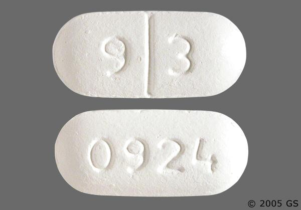 White Oblong 9 3 And 0924 - Oxaprozin 600mg Tablet