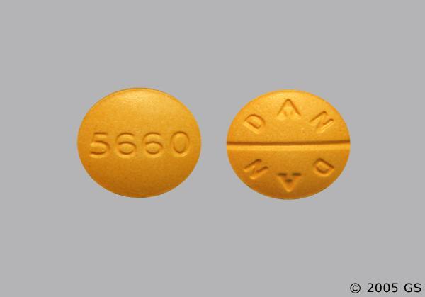 Yellow Round 5660 And Dan Dan - Sulindac 200mg Tablet