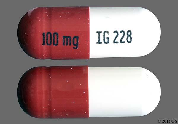 Brown And White 100 Mg Ig 228 - Zonisamide 100mg Capsule