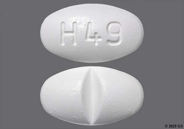 White Oval H 49 - Sulfamethoxazole/Trimethoprim 800mg-160mg Tablet