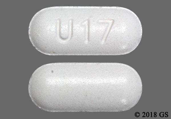 White Oblong U17 - Oxycodone Hydrochloride/Acetaminophen 10mg-325mg Tablet