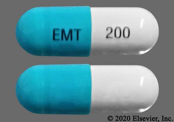 Blue And White Emt 200 - Emtricitabine 200mg Capsule