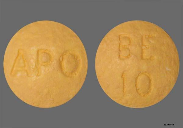 Yellow Round Apo And Be 10 - Benazepril Hydrochloride 10mg Tablet