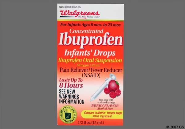 red-orange - Walgreens Infants' Ibuprofen 50mg/1.25mL Drops