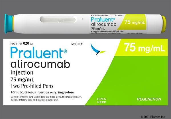 yellow - Praluent Prefilled Pen 75mg/1mL Solution for Injection