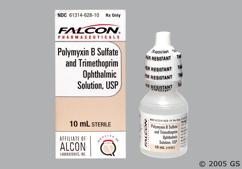 Polytrim (polymyxin B / trimethoprim)